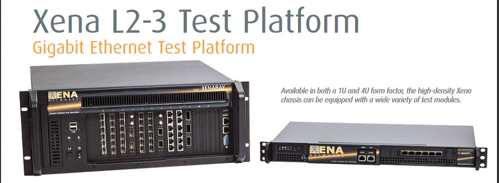 Layer 2-3 Test Platform - flexible and high port count L2-3 test