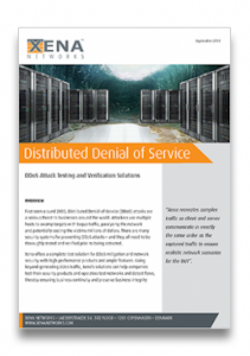 Distributed Denial of Service White Paper. Download and learn more