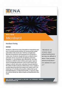 Microburst White Paper. Xena Networks White Papers