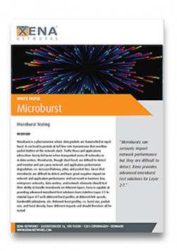Microburst White Paper. Xena Networks White Papers
