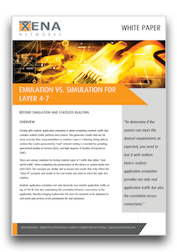 Emulation vs. Simulation for Layer 4-7 White Paper