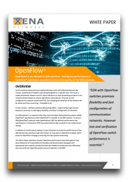 OpenFlow® Performance Testing White Paper