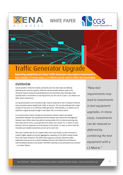 Traffic Generator Upgrade