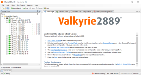 Read the Valkyrie2889 User Manual here - Xena Networks